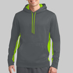Sport Wick ® Fleece Colorblock Hooded Pullover