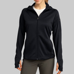 Ladies Tech Fleece Full Zip Hooded Jacket