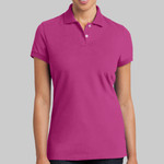 Ladies Stretch Pique Polo