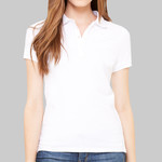 Women's Cotton Spandex Mini Pique Short Sleeve Polo