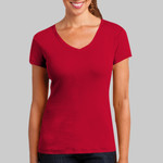 ™ Ladies Mini Rib V Neck Tee