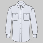 Long Sleeve Striped Industrial Work Shirt