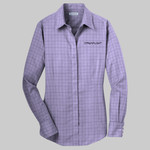 Ladies Windowpane Plaid Non Iron Shirt