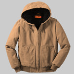 Washed Duck Cloth Insulated Hooded Work Jacket