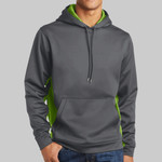 Sport Wick ® CamoHex Fleece Colorblock Hooded Pullover