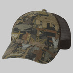 Oil Field Camo Cap With Mesh Back